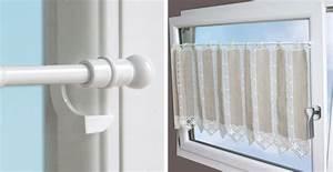 Rideaux à Poser Sur Fenêtres : tringle vitrage pression sans percer secodir deco ~ Premium-room.com Idées de Décoration