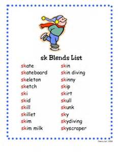 SK Blends Word List