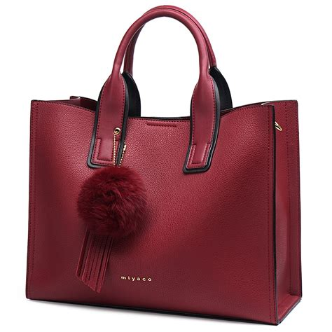 MIYACO Handbag for Women Leather Tote Bags Designer ...