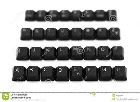 letters on keyboard alphabet of keyboard on a white background royalty 31707