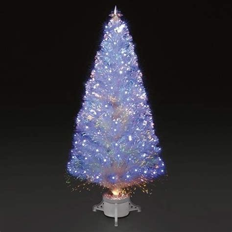 outdoor indoor blue white 818 led spiral tape pop up christmas tree 6ft 180cm polar white fibre optic led tree quot o tree quot