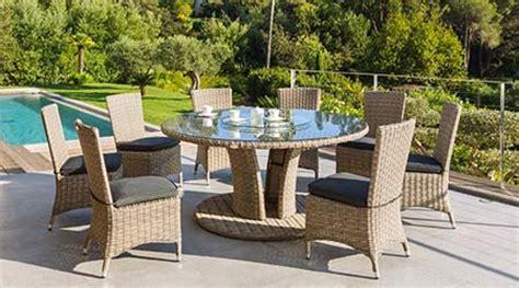 chaise jardin resine tressee libertad taupe hesperide jardideco