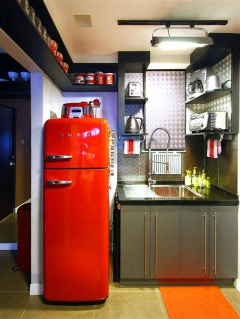 modern kitchen design ideas making statements colorful retro fridges