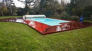 tour de piscine en bois pose terrasse bois landes tour With tour de piscine en bois