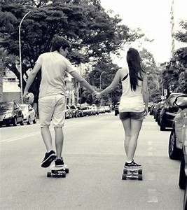 boy and girl skateboarding | love skate girl boy amor the ...