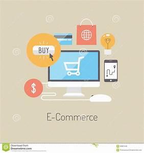 Design Online Shop : e commerce flat illustration concept stock vector ~ Watch28wear.com Haus und Dekorationen