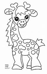 Coloring Zoo Pages Animal Nessy Via Giraffe sketch template