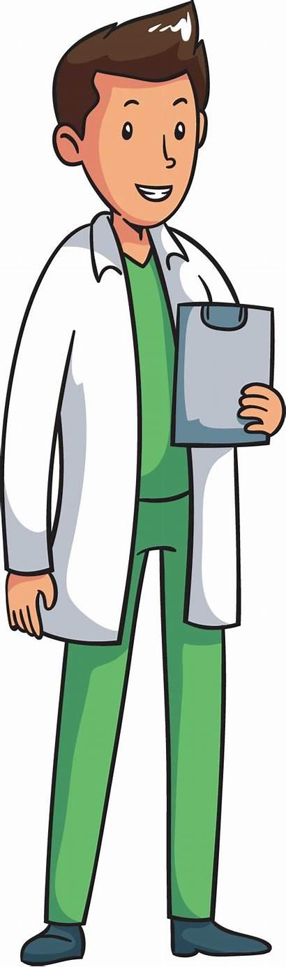 Doctor Clipart Professions Drawing Cartoon Transparent Clip