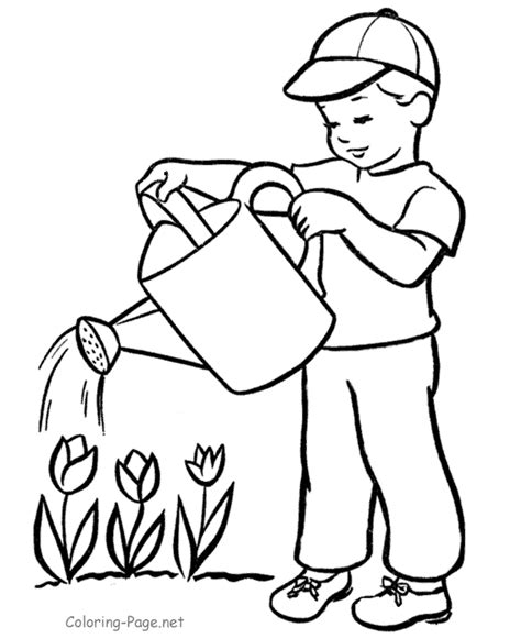 coloring pages plants coloring home