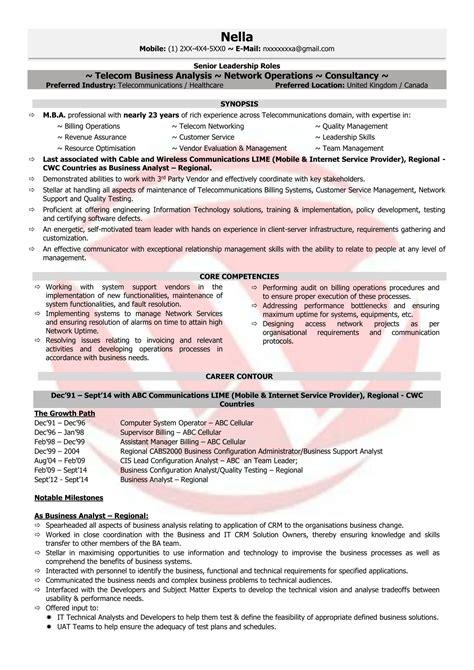 telecom manager sample resumes  resume format