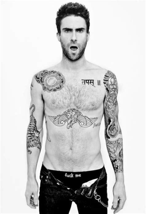 Adam Levine with an invitation perhaps?   Adam levine tattoos, Adam levine shirtless, Adam levine