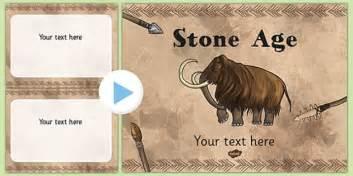 stone age themed powerpoint template teacher