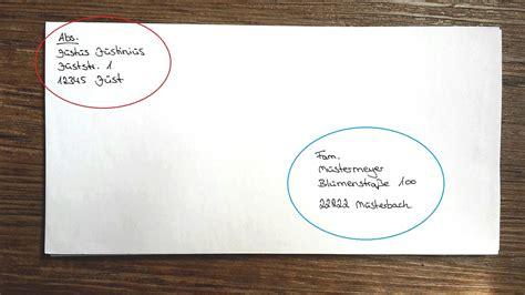 brief falten kleiner umschlag briefe und pakete richtig beschriften f 252 r deutschland