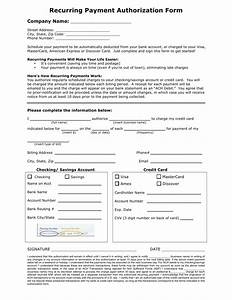 automatic withdrawal form template download recurring payment authorization form template credit card ach pdf rtf word