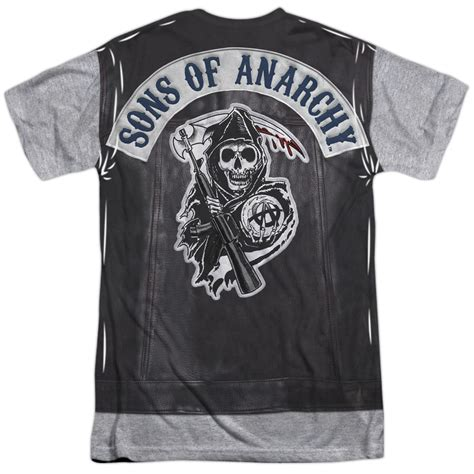 sons of anarchy shirts sons of anarchy soa unholy costume 2 sided sublimation print poly t shirt s 3xl ebay