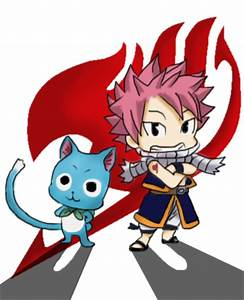Chibi Natsu n Happy Fairy Tail colored by zarondoel on ...