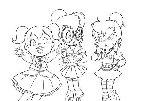 Free Chipmunks And Chipettes Printable Coloring Pages For
