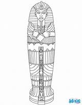 Sarcophagus Egyptian Coloring Egypt Ancient Pages Crafts Mummies Colors History Visit Kid sketch template