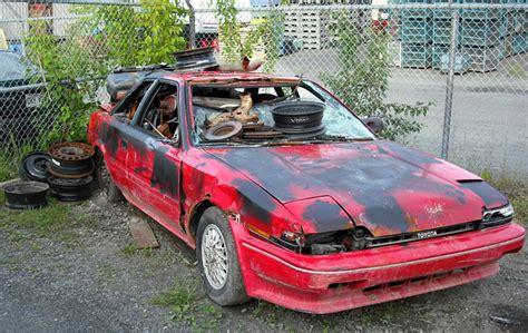 rusty car driving vehicle junkyard vehicle ideas