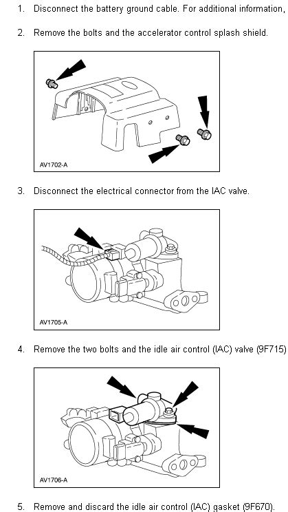 ford expedition iac valve replacing owner  manual
