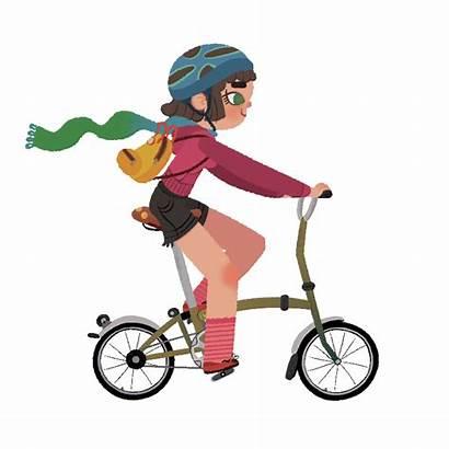 Bike Ride Behance Animation Let 2d Lets