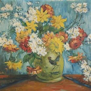 Tableau Fleurs Moderne : tableau bouquet de fleurs moderne bl66 montrealeast ~ Teatrodelosmanantiales.com Idées de Décoration