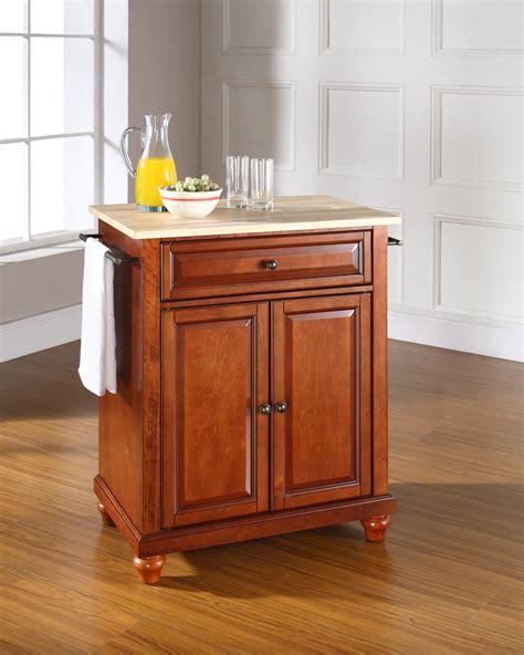 kitchen island cherry crosley cambridge wood top portable kitchen 1868