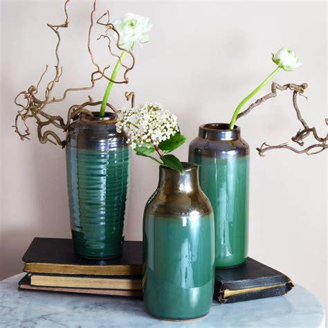 Lustre Vase by Emerald Lustre Vases By Miafleur Notonthehighstreet