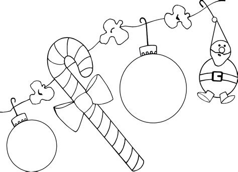 Christmas Decorations To Color  Coloring Home