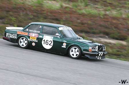 rare volvo  race car competing  historic races