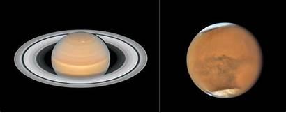 Hubble Mars Saturn Telescope Space Planets Recent