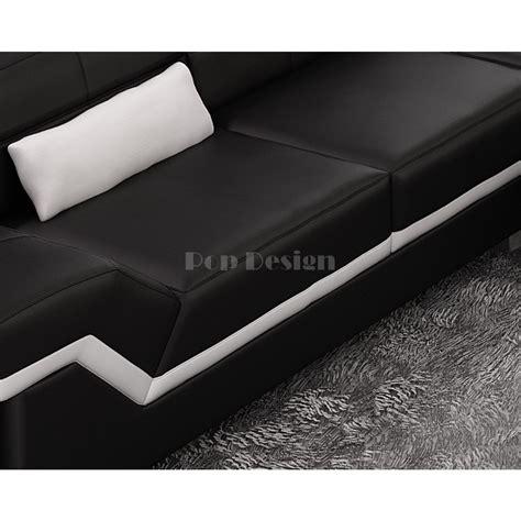 canapé pouf design canapé d 39 angle design en cuir torino pouf pop design fr