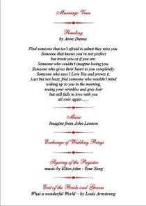 wedding ceremony order brambles wedding stationery order of service pages civil ceremony