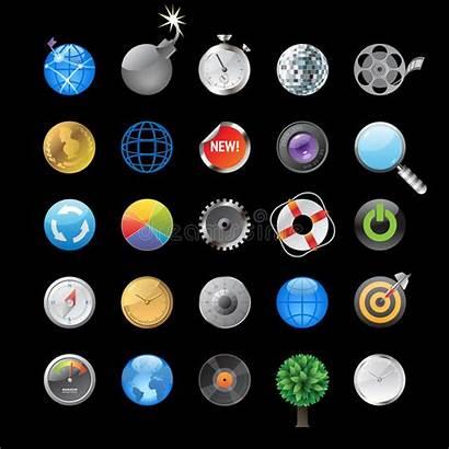 Circles Icons Objects Round Symbols Illustration Vector
