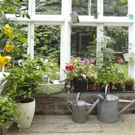 vintage furniture  garden decor  charming backyard ideas
