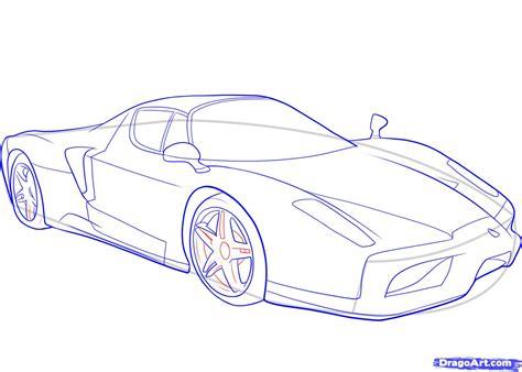 ferrari drawing how to draw a ferrari step by step cars draw cars