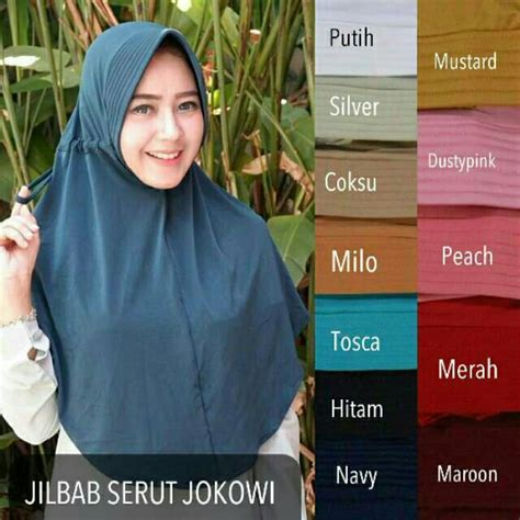 jilbab serut jokowi polos adiba termurah hijab instan