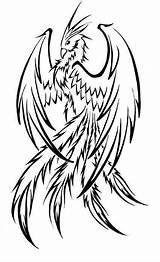 Tattoo Phoenix Draw Tattoos Imgur Drawing Bird Simple Tribal sketch template