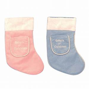 Baby, U0026, 39, S, First, Christmas, Stocking, 2, Colours, -, 37cm