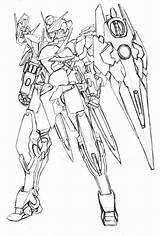 Gundam Coloring Quanta Template Sketch Master Shining Wing Sd sketch template