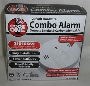 Combo Alarm Smoke  U0026 Carbon Monoxide 120 Volt Hardwire Code