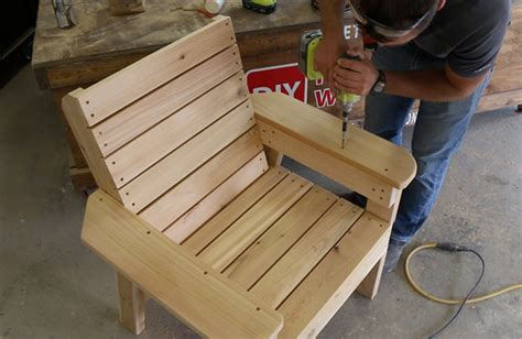 diy patio chair plans  tutorial step  step