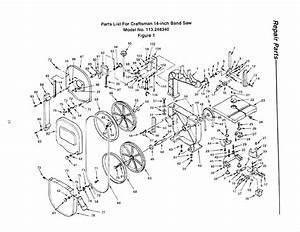 Craftsman 113248340 User Manual 14 Inch Band Saw Manuals