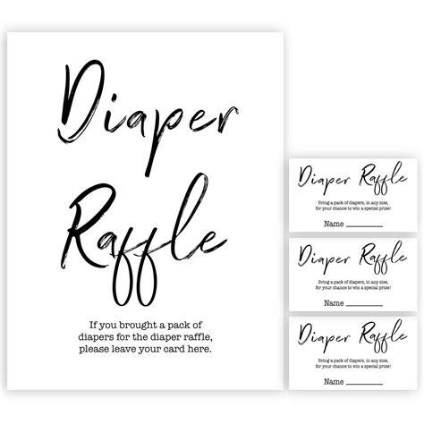 diaper raffle game gender neutral printable baby shower