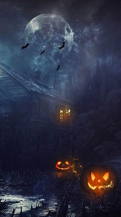 Halloween Moon Haunted Iphone Wallpapers Backgrounds Pumpkin