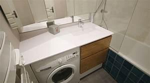 meuble de salle de bain avec lave linge atlantic bain With salle de bain integree