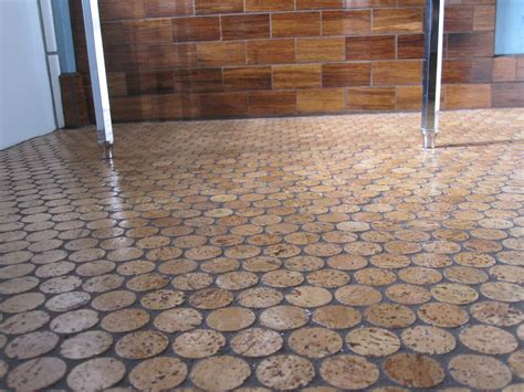 style of cork floor tiles color