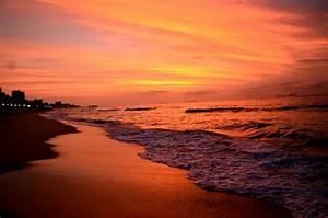 Beach, Sunset, Nature, Water, Wallpapers, Hd, Desktop, And