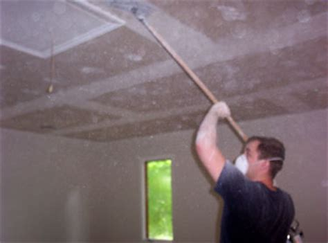 Scraping Popcorn Ceiling by Acoustic Ceiling Removal A1 Acoustical Drywall