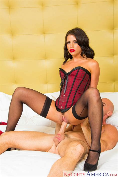 Adriana Chechik In Sexy Corset And Black Stockings Gets